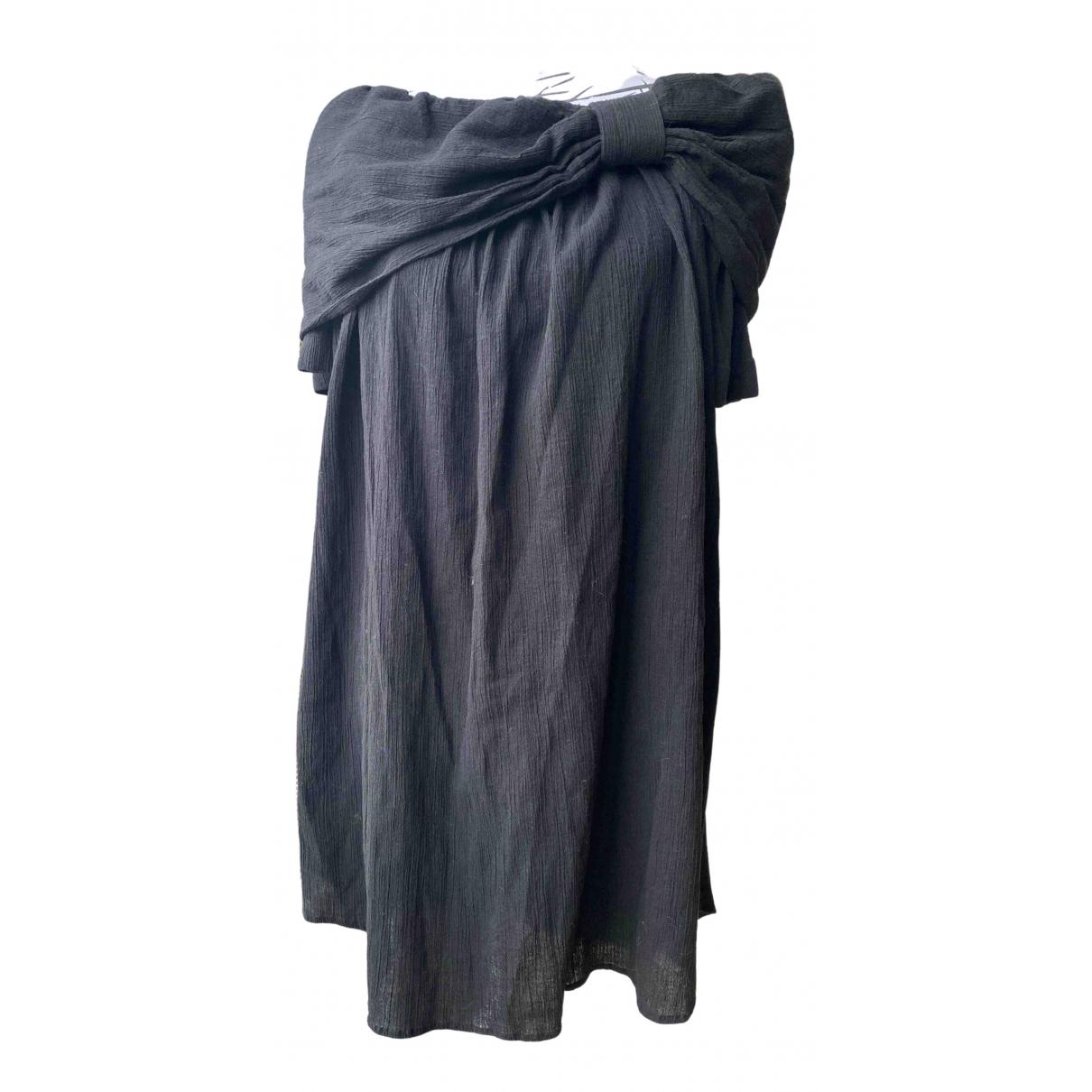 Costume National N Black Cotton skirt for Women 44 IT