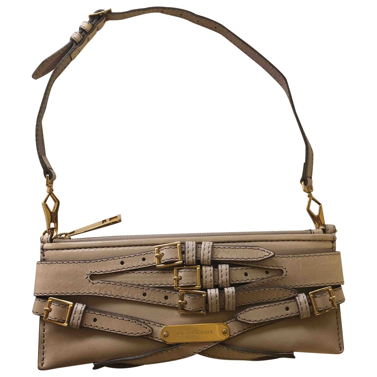 Burberry \N Beige Leather Clutch bag for Women \N