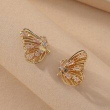 1 Paar Ohrstecker mit Schmetterling Design
