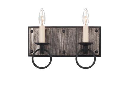 Laramie 509232BI 2-Light ADA Bath in Black