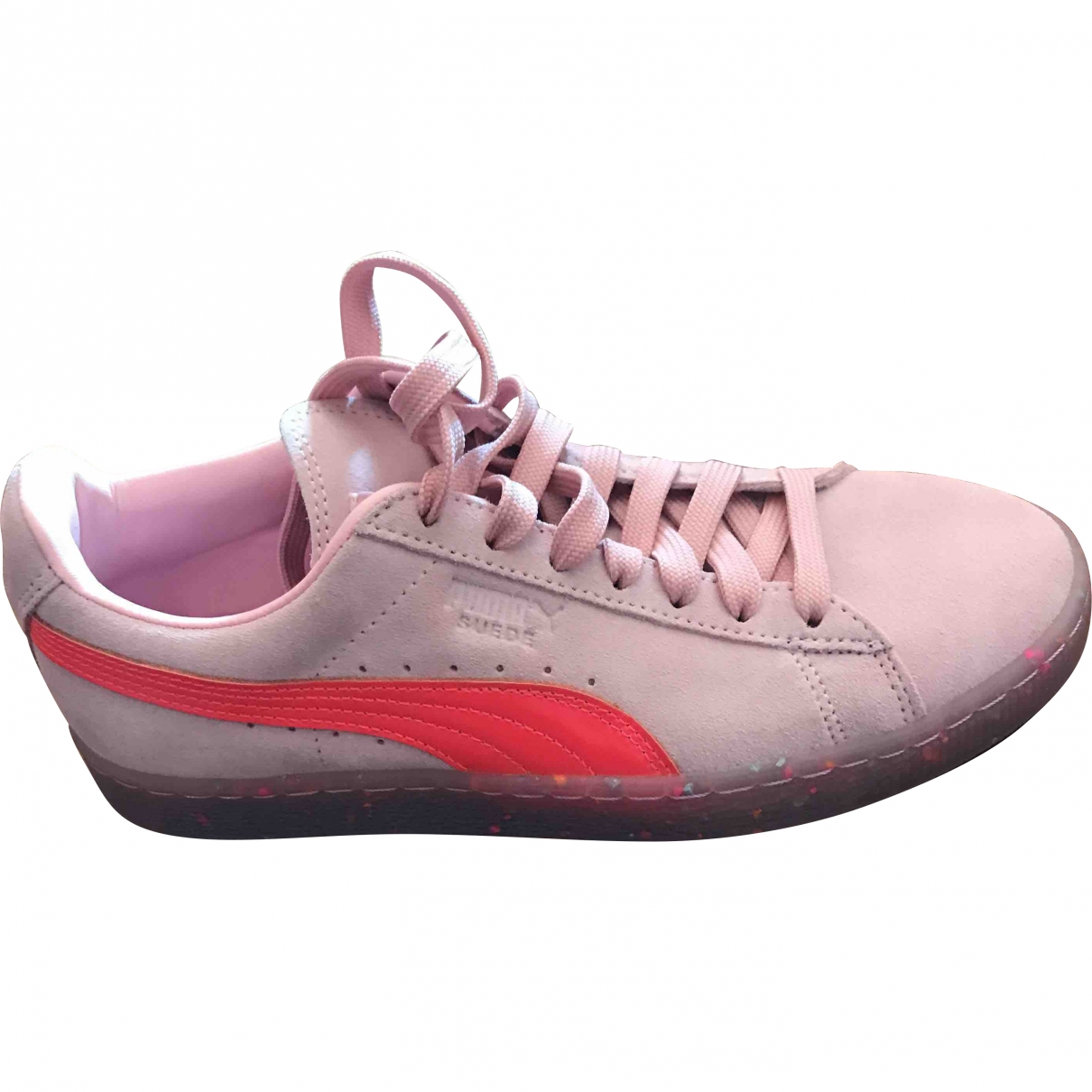 Puma - Baskets   pour femme en cuir verni - rose