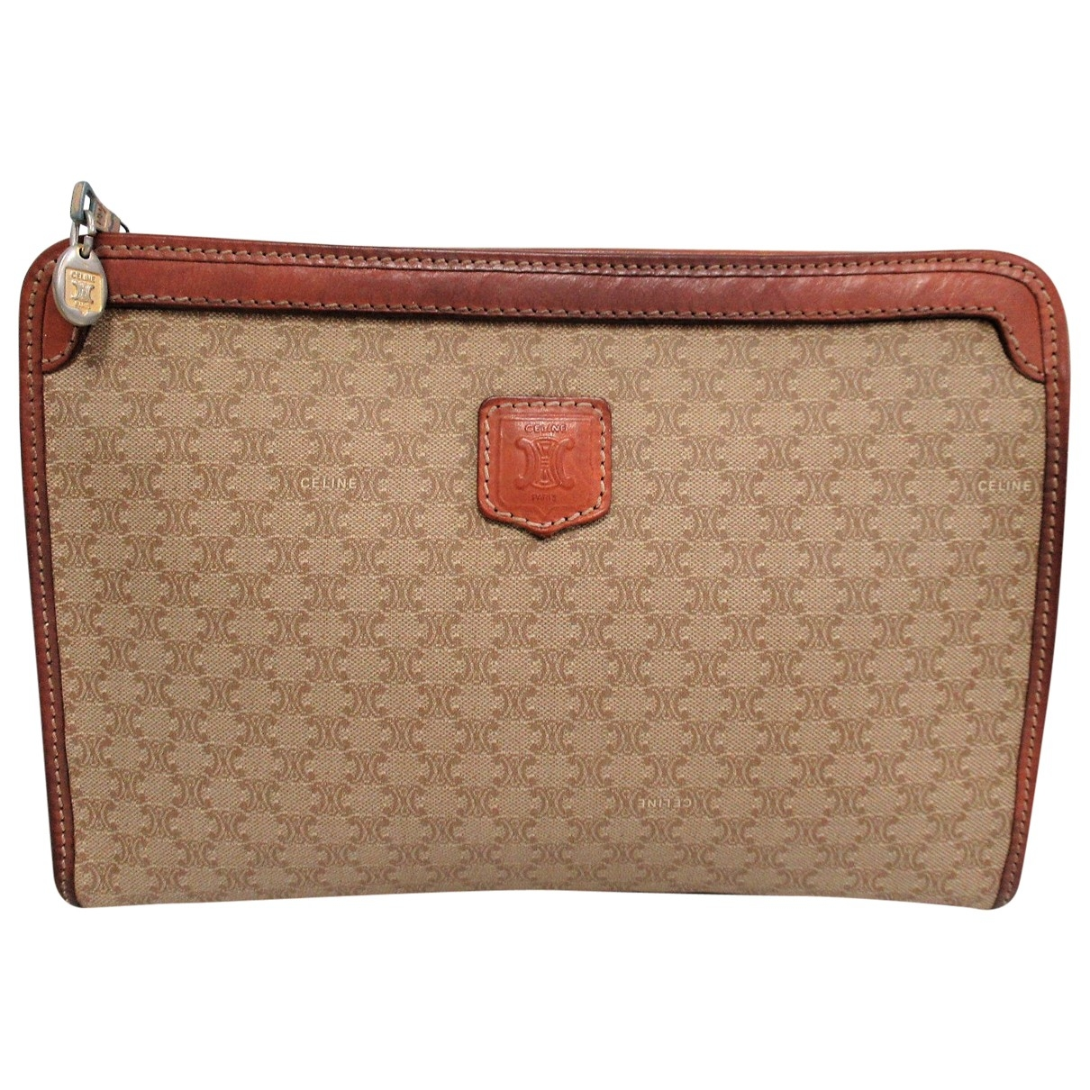 Celine \N Clutch in  Braun Leder