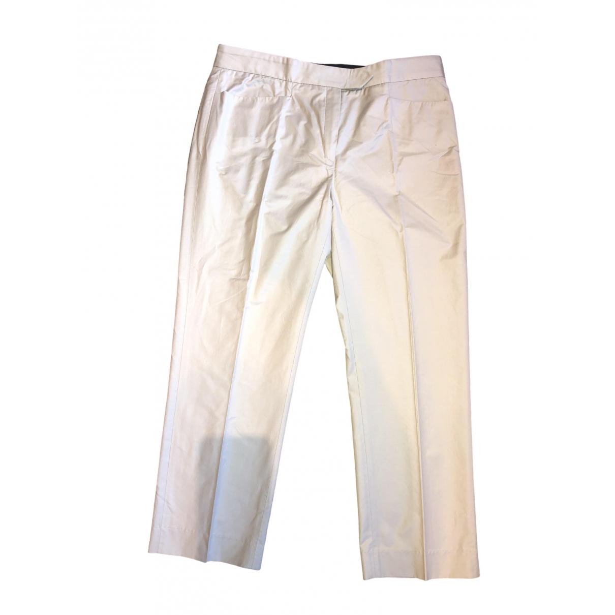 Joseph \N Beige Cotton Trousers for Women 36 FR