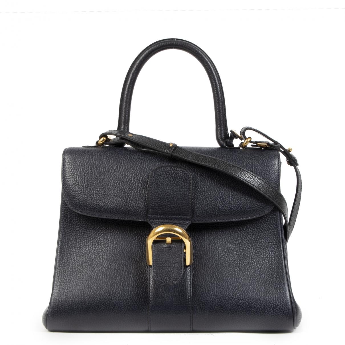 Delvaux Le Brillant Handtasche in  Blau Leder