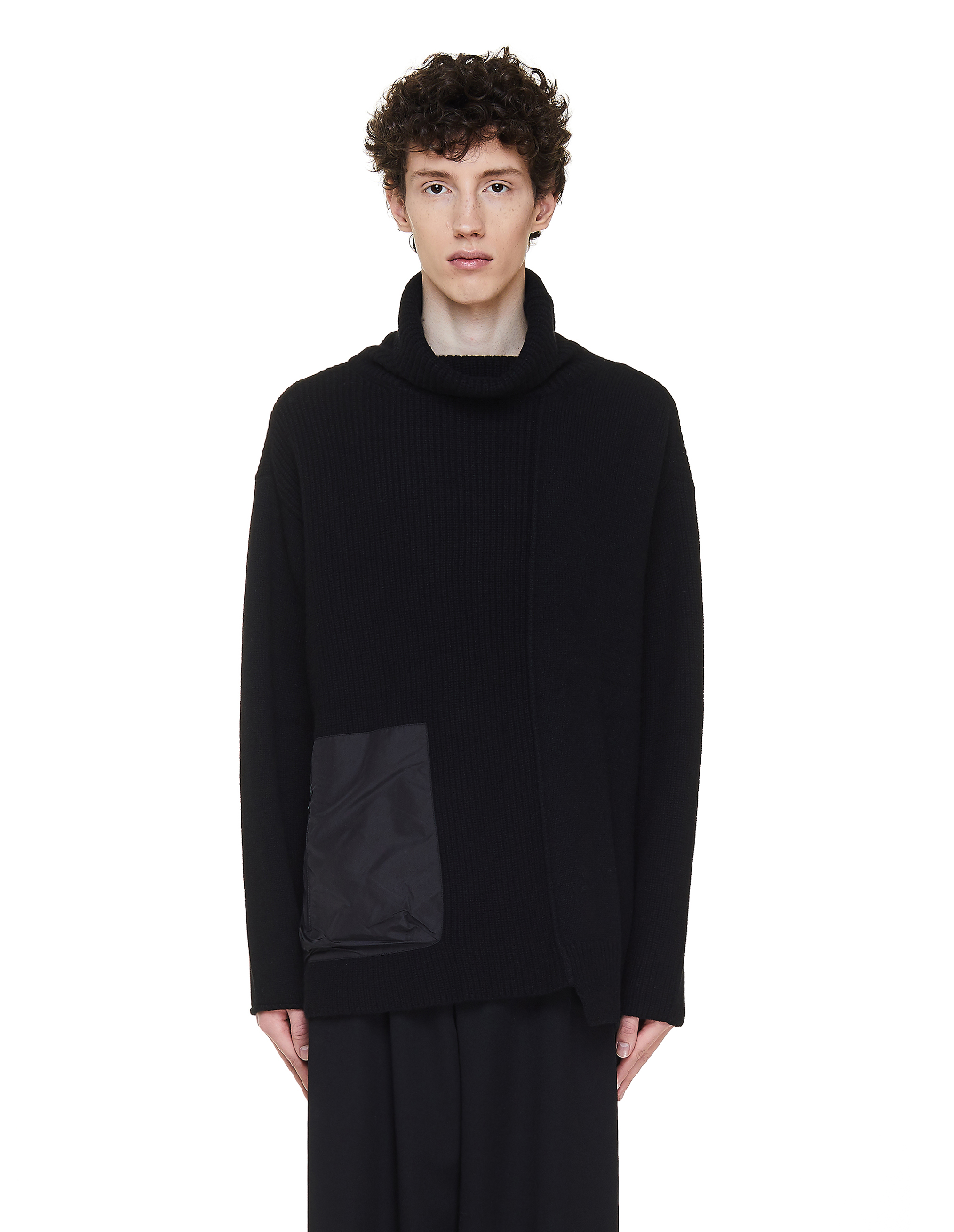 The Viridi-Anne Black Sweater With Pocket