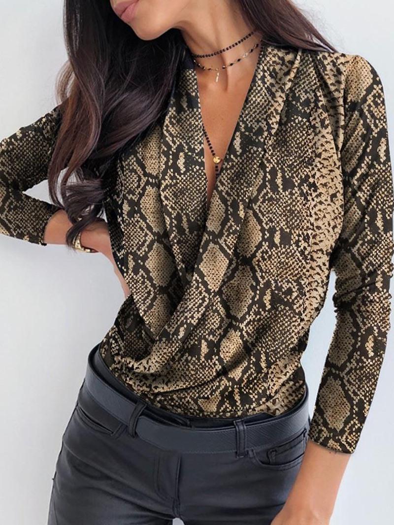 Ericdress Print Regular Standard Women's Long Sleeve Blouse