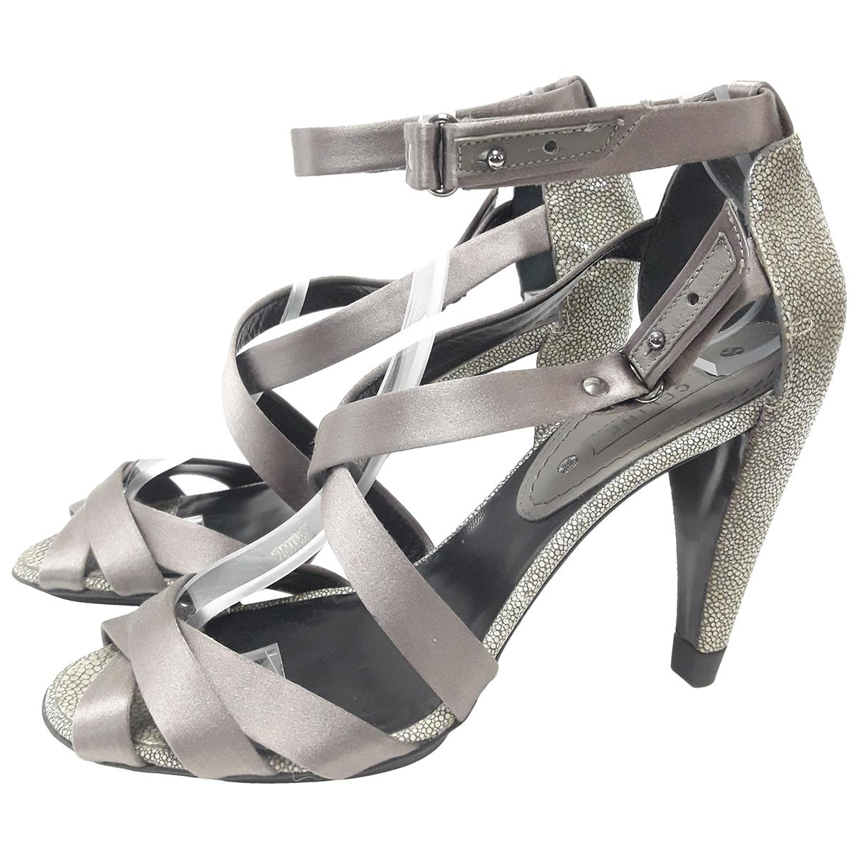 Celine - Sandales   pour femme en galuchat - gris