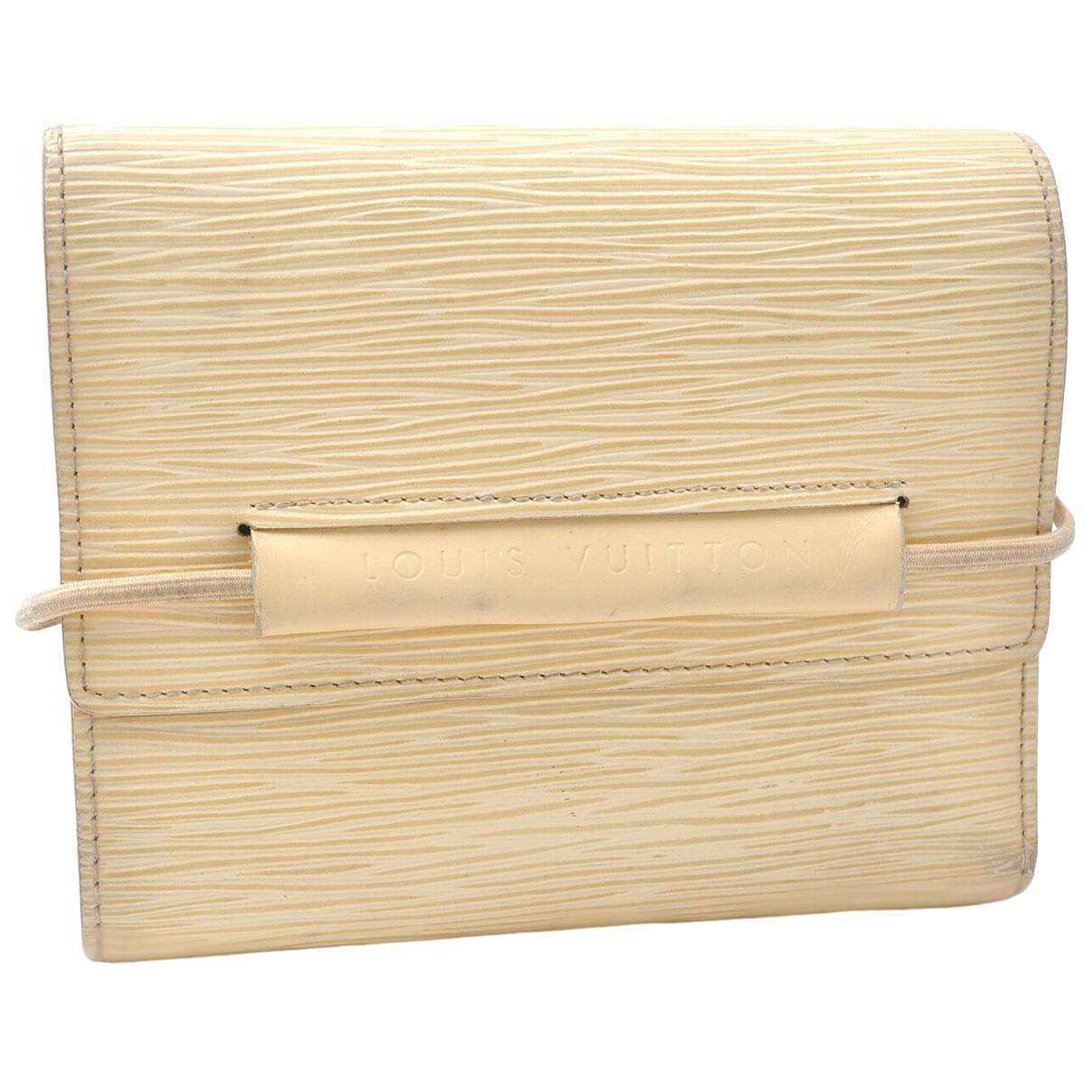 Louis Vuitton - Portefeuille   pour femme en cuir - camel
