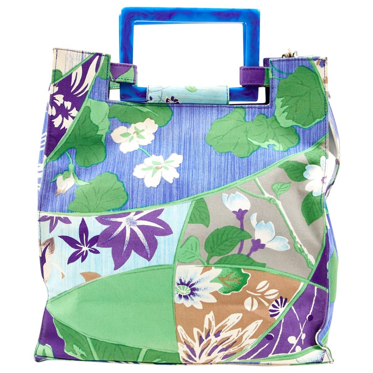 Kenzo \N Handtasche in  Blau Leinen