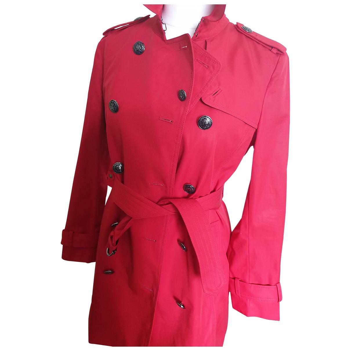 Tommy Hilfiger \N Red Cotton coat for Women 42 FR