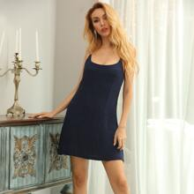 Low Back Rhinestone Strap Cami Dress