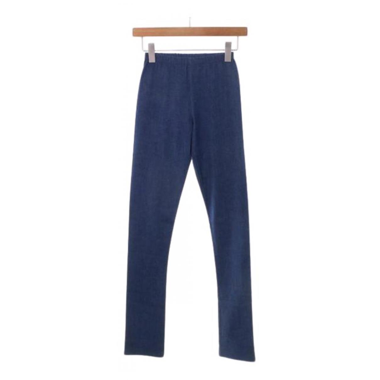 Junya Watanabe N Blue Cotton Trousers for Women XS International