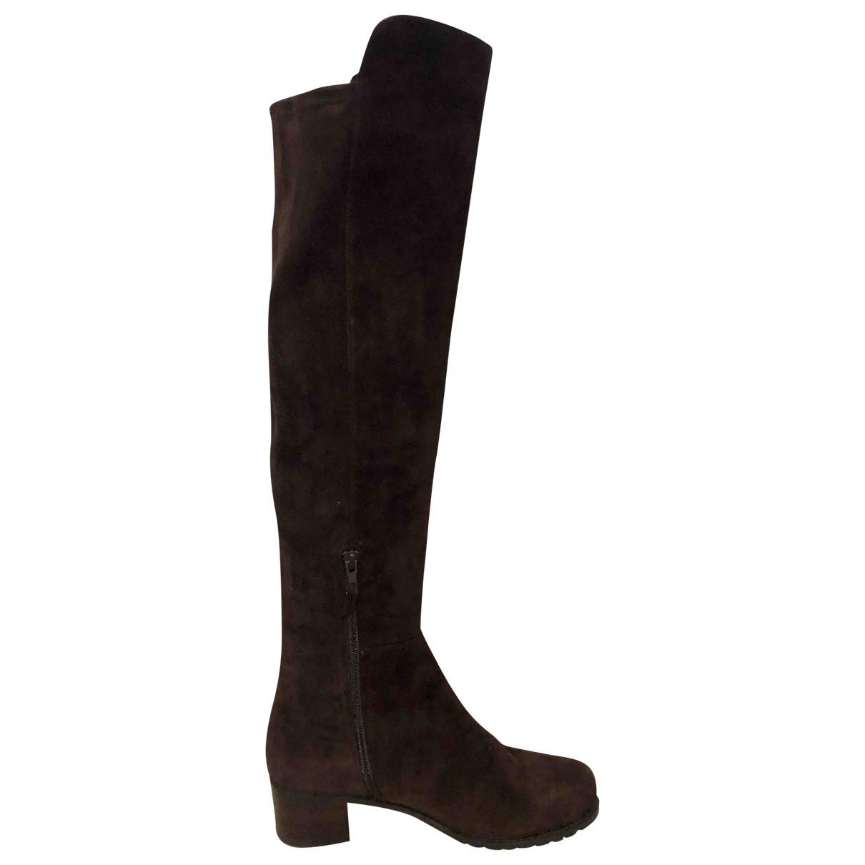 Stuart Weitzman \N Brown Suede Boots for Women 38 EU