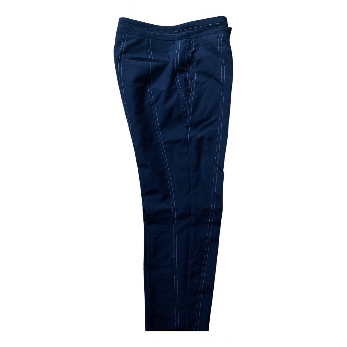 Brunello Cucinelli \N Black Wool Trousers for Women 44 IT