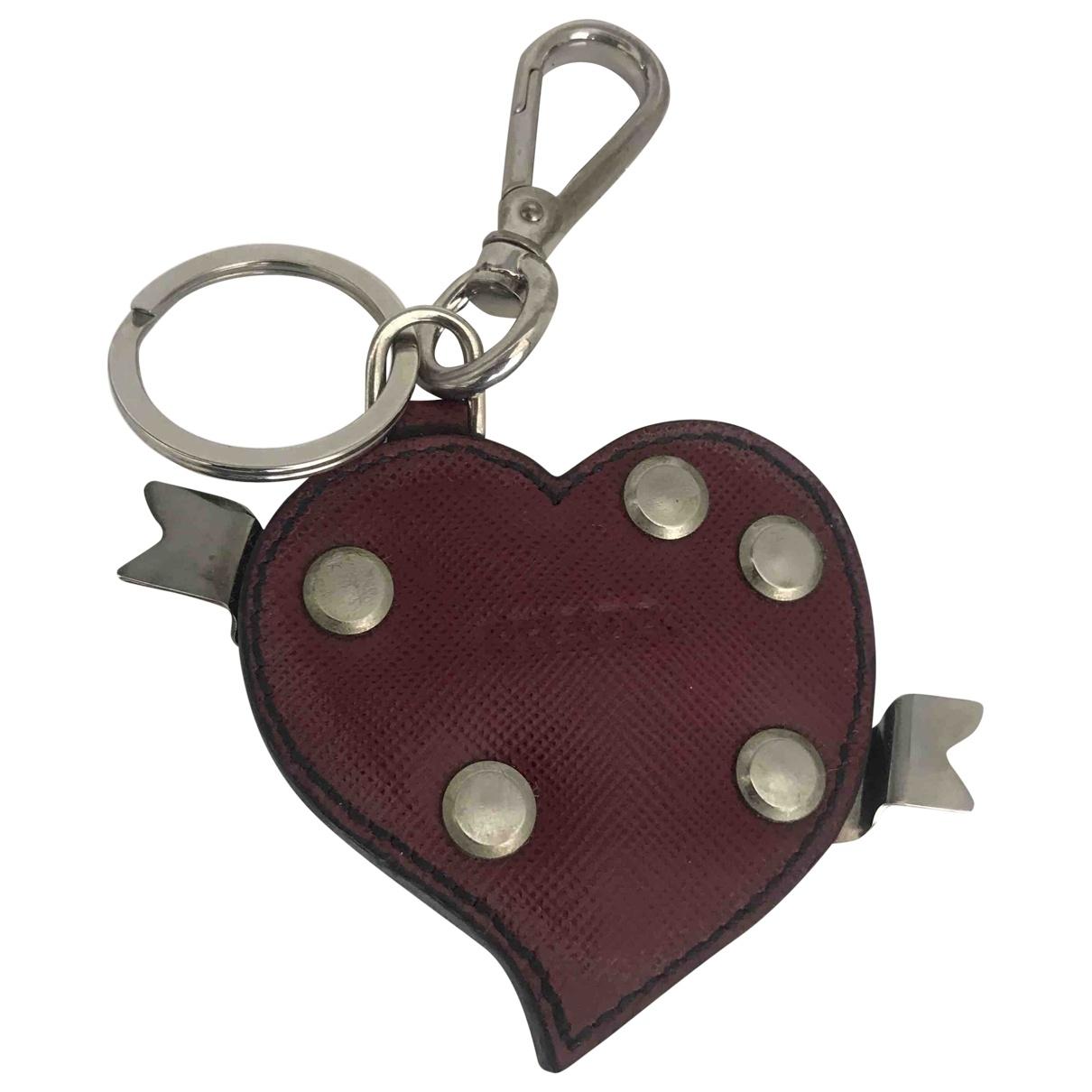 Prada \N Burgundy Metal Bag charms for Women \N