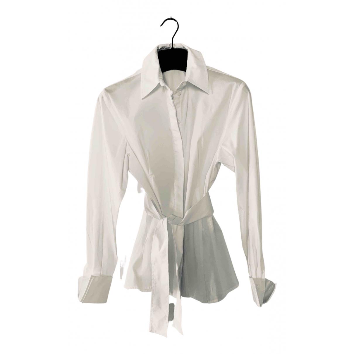 Topshop - Top   pour femme en coton - blanc