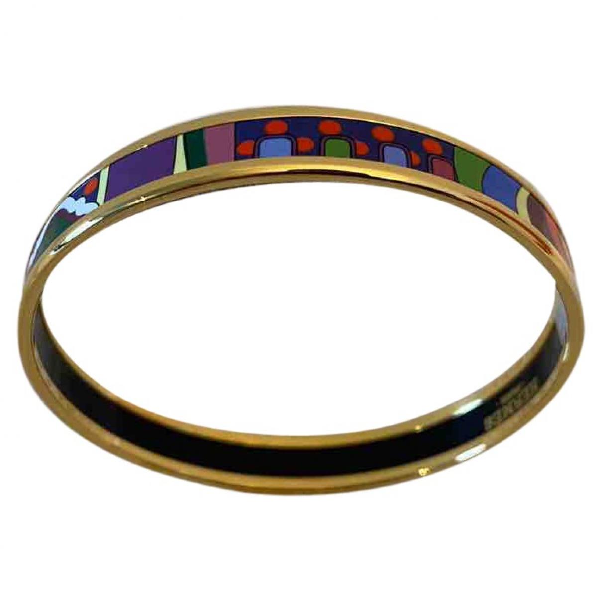 Hermes Bracelet Email Armband in  Bunt Vergoldet