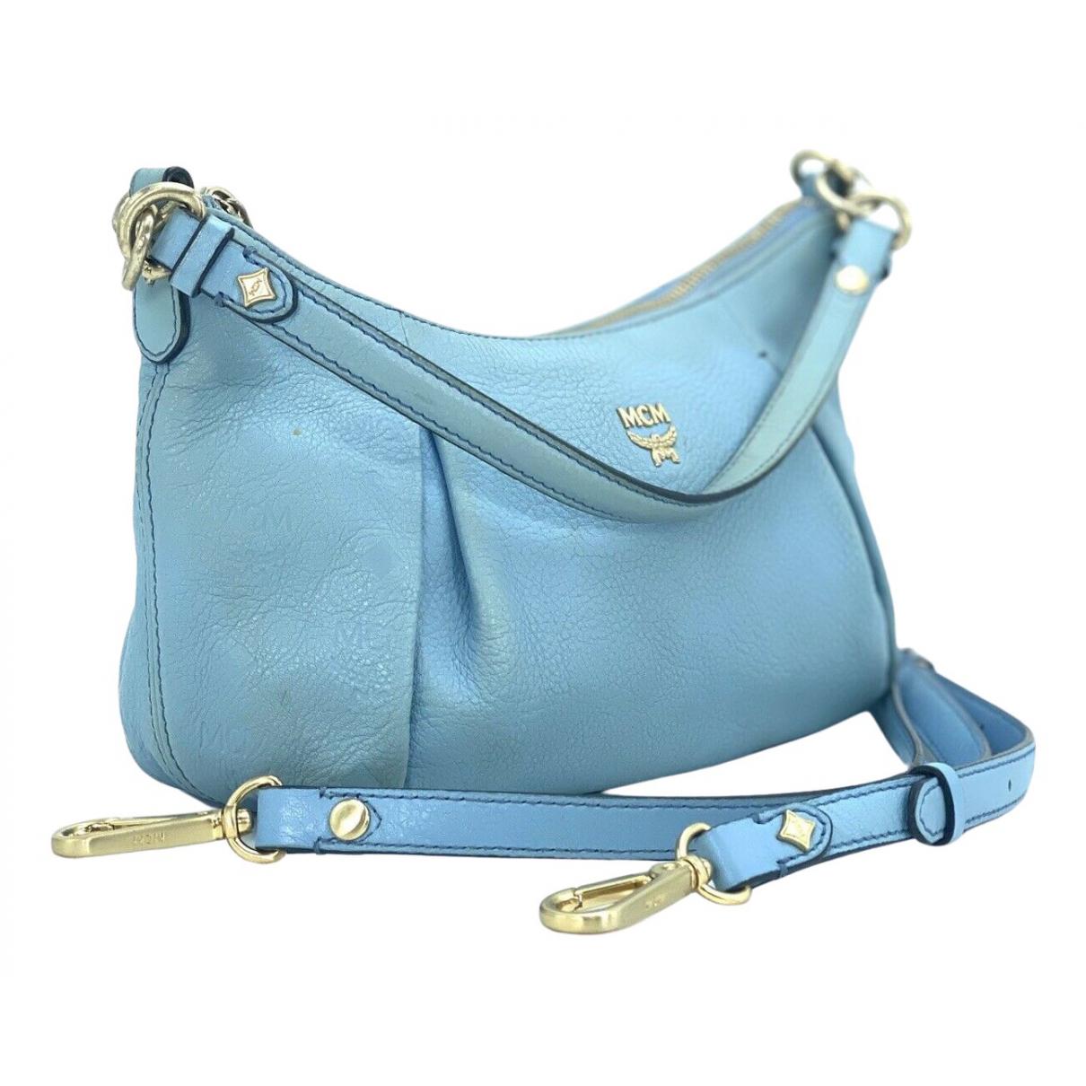 Mcm \N Blue Leather handbag for Women \N