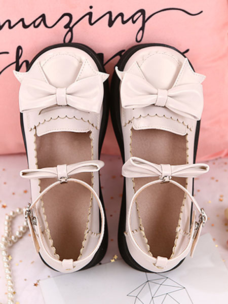 Milanoo Sweet Lolita Footwear Bow Tobillera Correa Plataforma Lolita Pumps