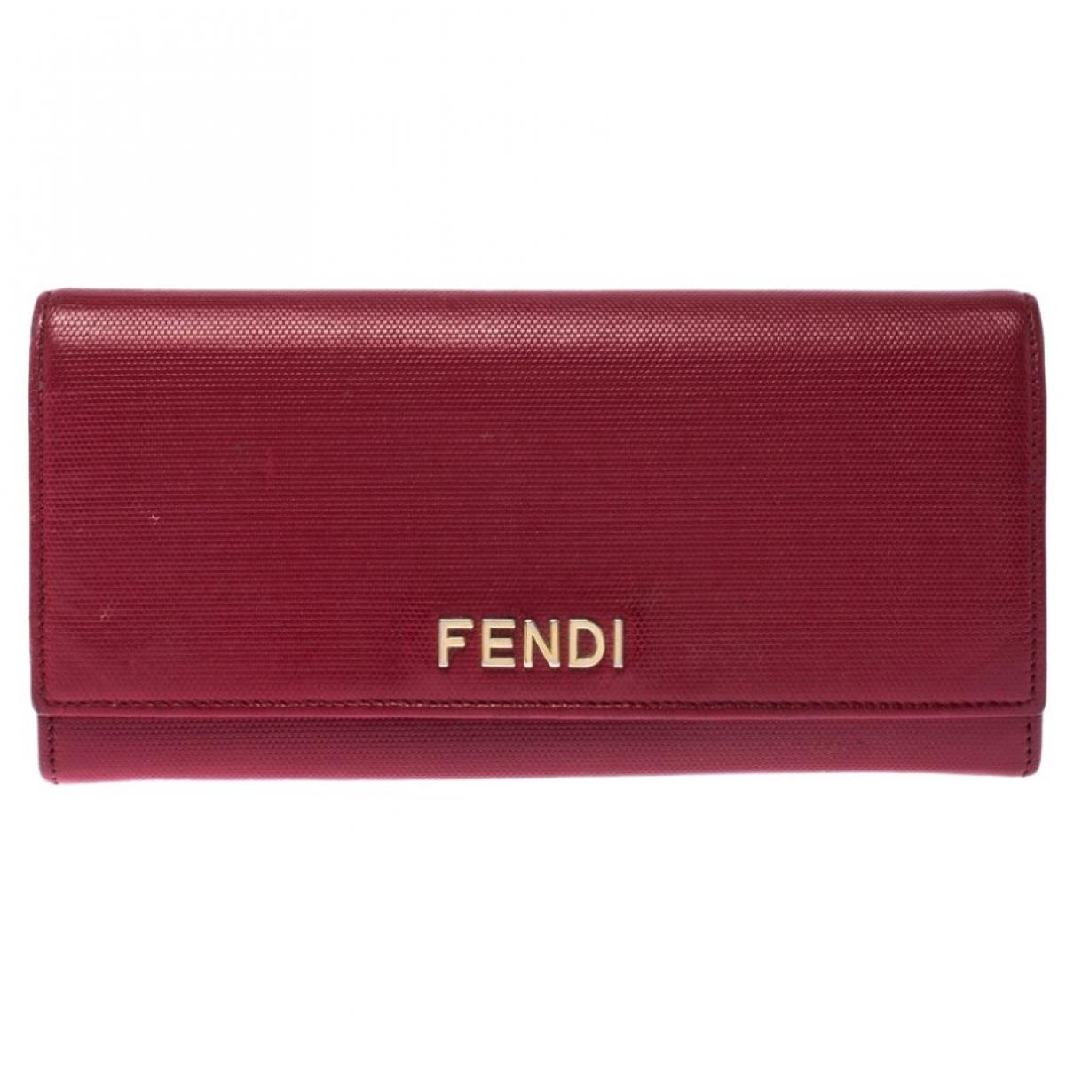 Fendi \N Portemonnaie in  Rot Leder