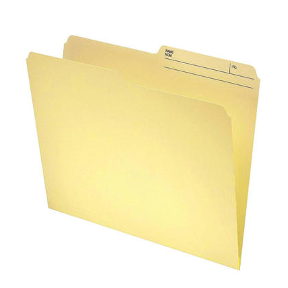 Offix® Reversible File Folders with 1/2-Cut Printed Tab, Manila, 100/Pack