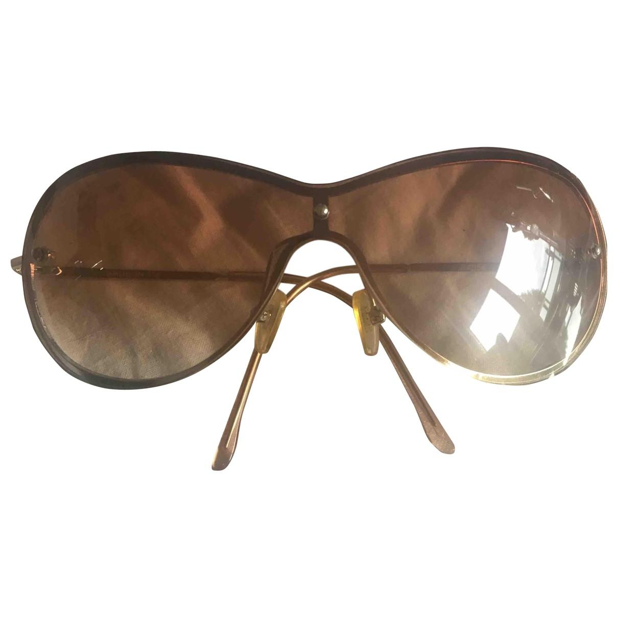 Gucci \N Sonnenbrillen in  Braun Metall