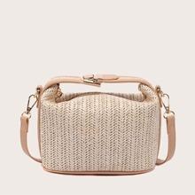 Minimalist Gewebte Handtasche