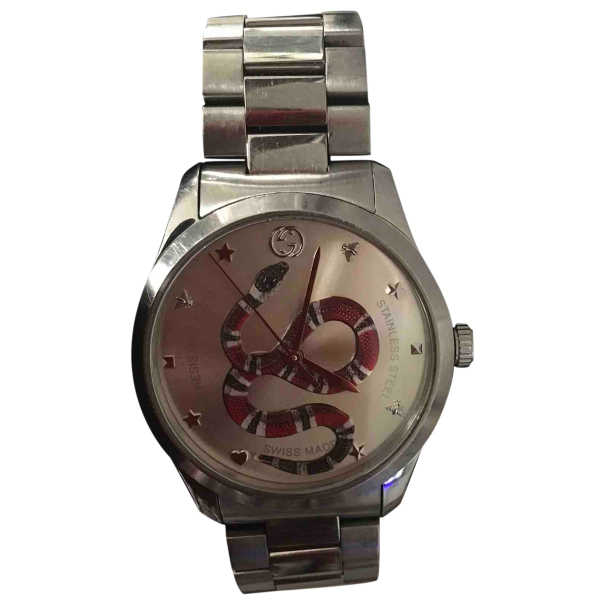 Gucci G-Timeless Uhr in  Silber Stahl