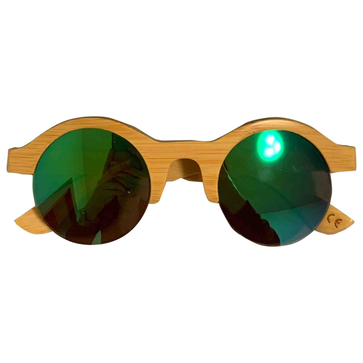 Non Signé / Unsigned \N Beige Wood Sunglasses for Women \N