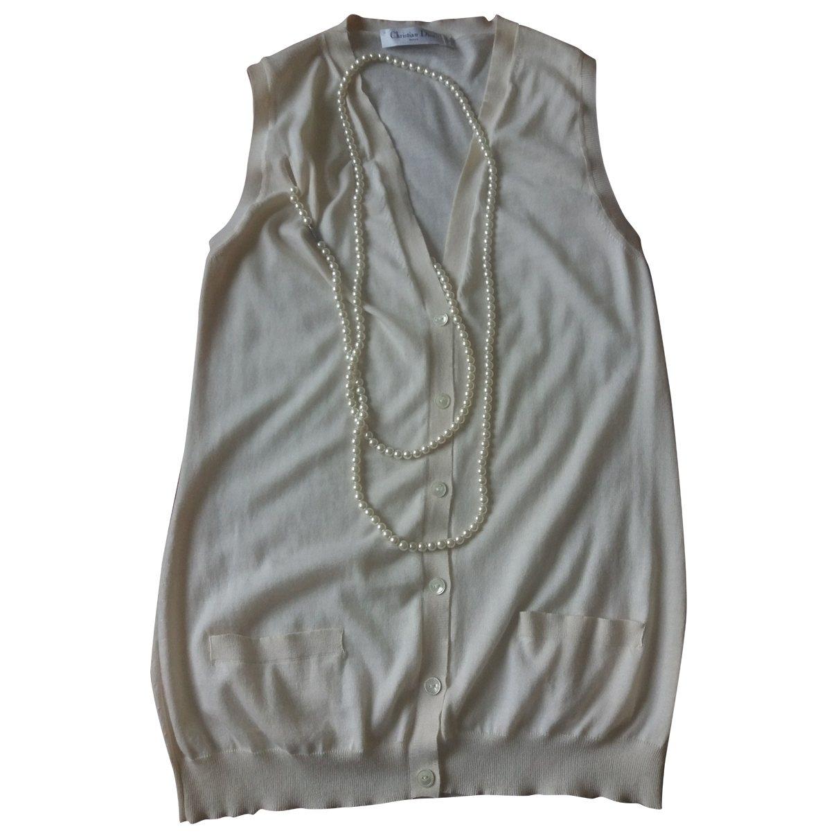 Dior - Pull   pour femme en cachemire - ecru