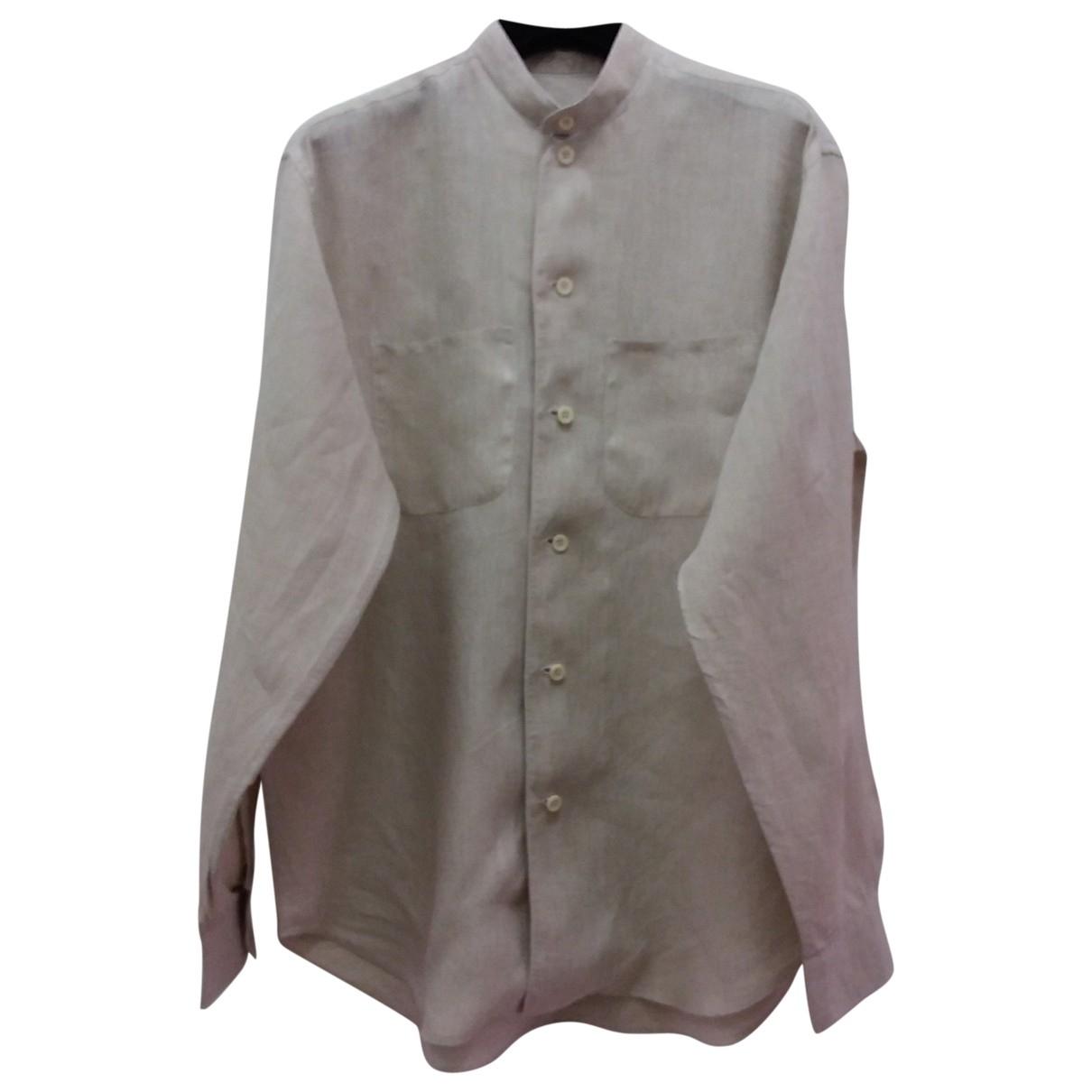 Non Signé / Unsigned \N Beige Linen Shirts for Men XS International