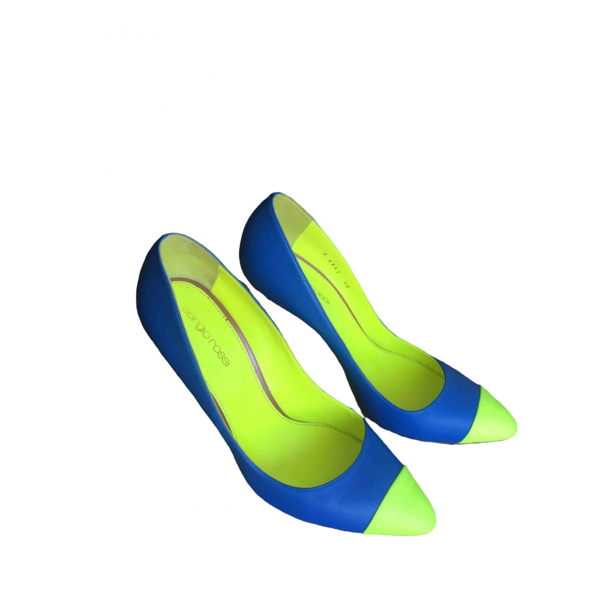 Sergio Rossi \N Pumps in  Blau Leder