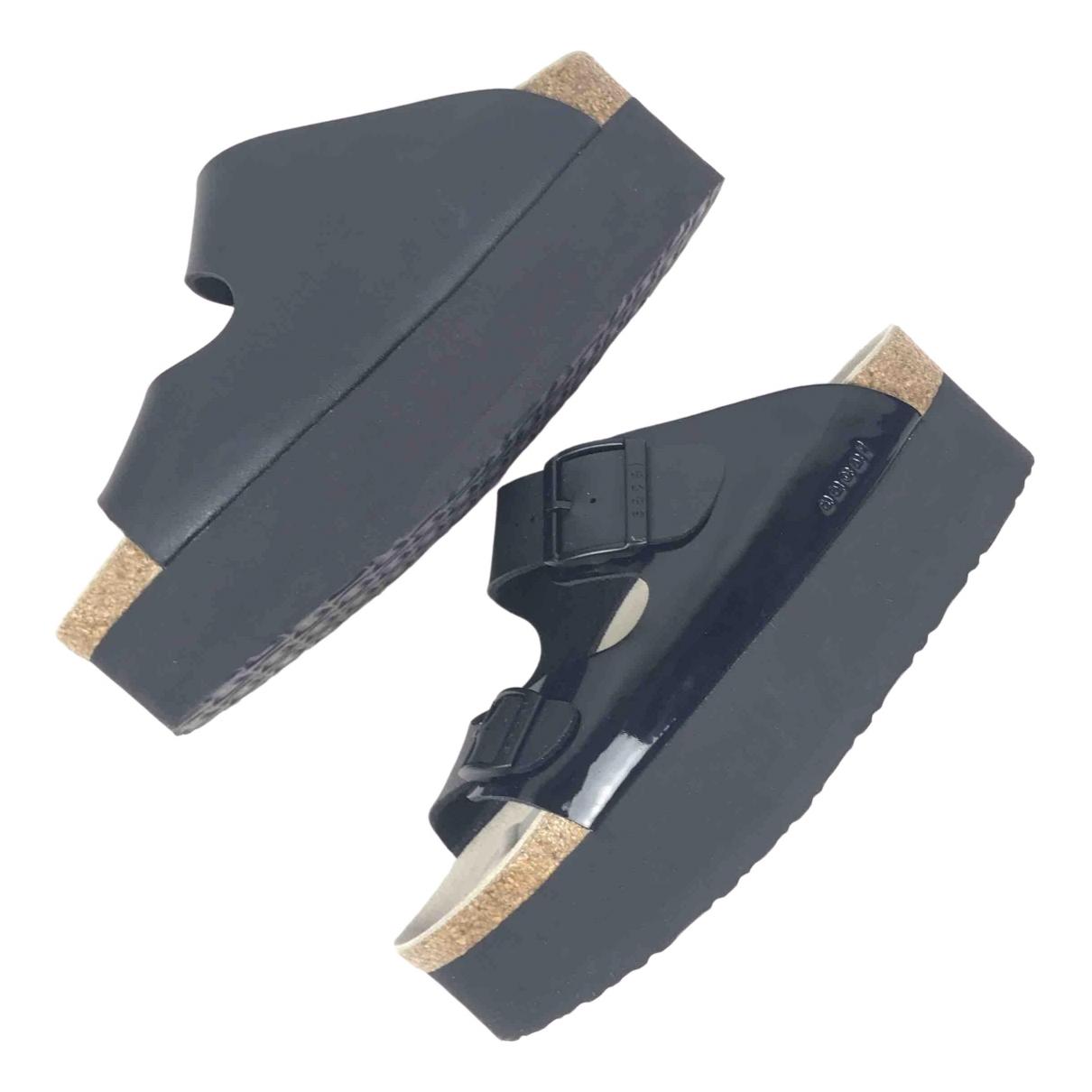 Sacai \N Black Leather Sandals for Women 37 EU