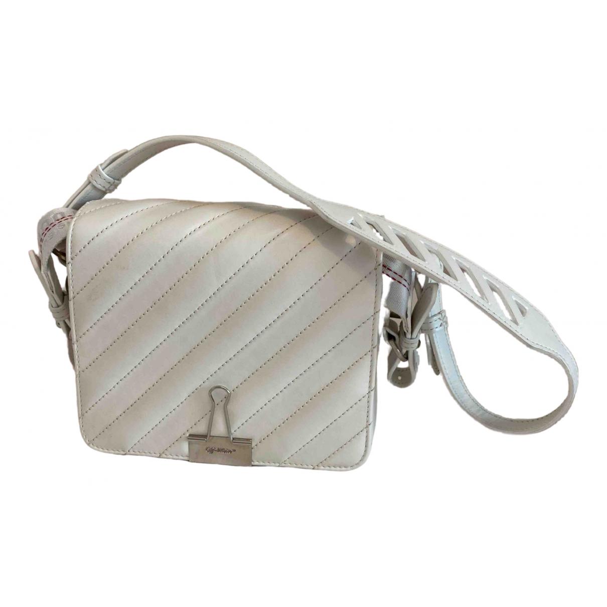 Off-white Binder White Leather handbag for Women \N
