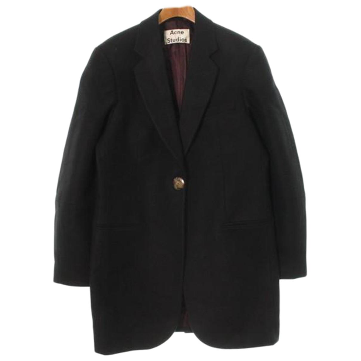 Acne Studios - Manteau   pour femme en laine - noir