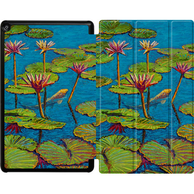 Amazon Fire HD 10 (2018) Tablet Smart Case - Will Cormier - Six Koi in Lilly Pond von TATE and CO