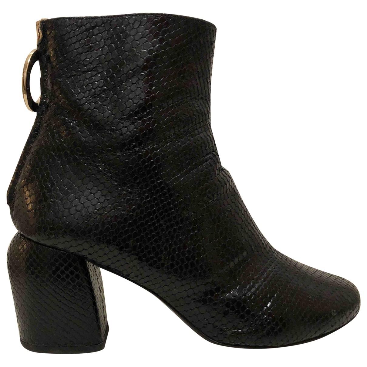 Coliac - Boots   pour femme en python - noir