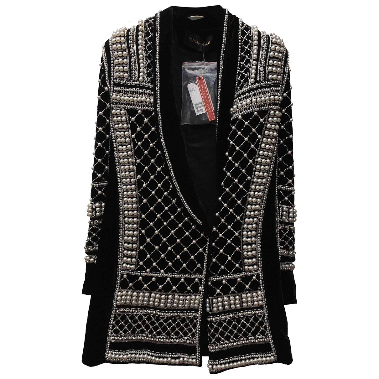 Balmain For H&m \N Black Velvet jacket for Women 34 FR