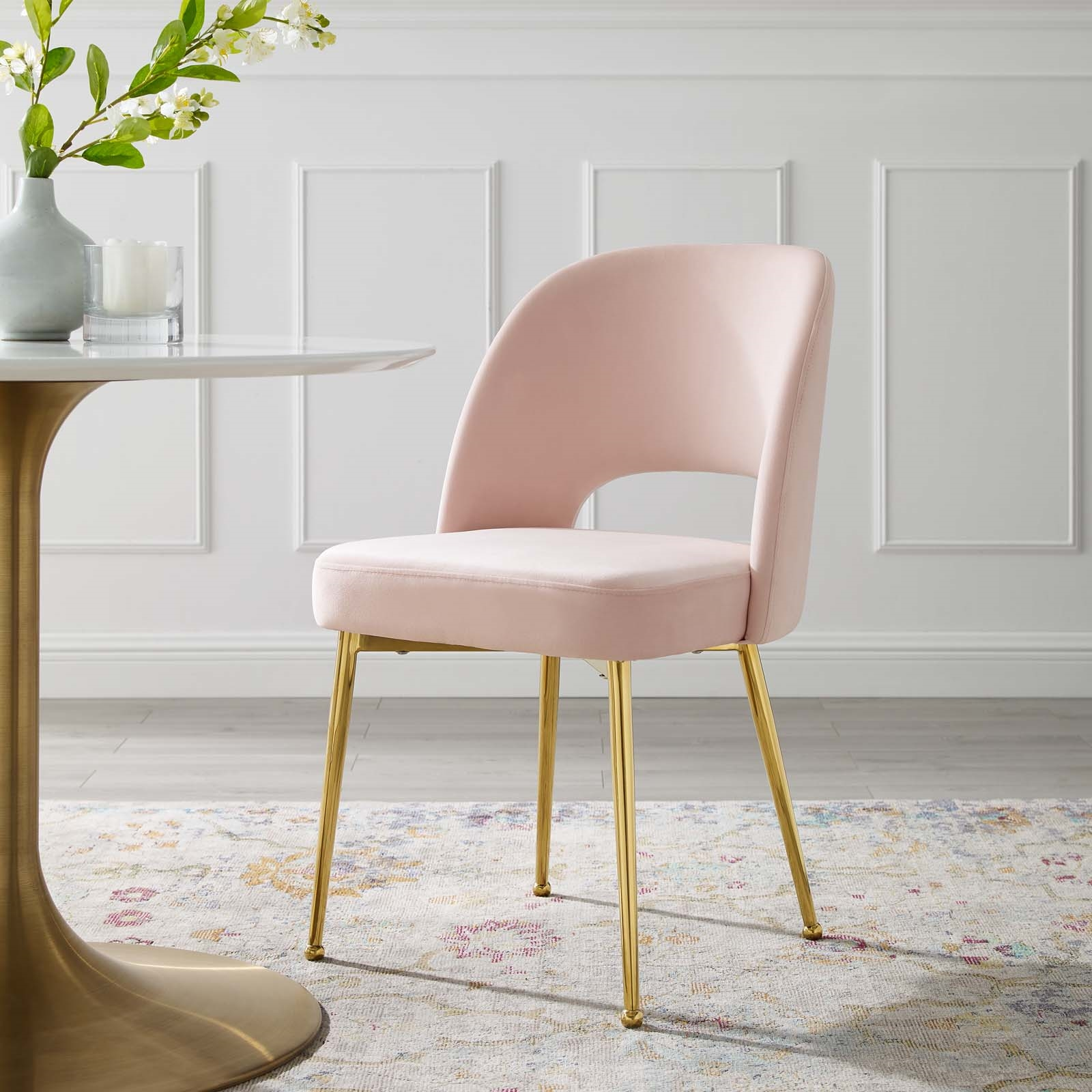 Rouse Dining Room Side Chair in Pink
