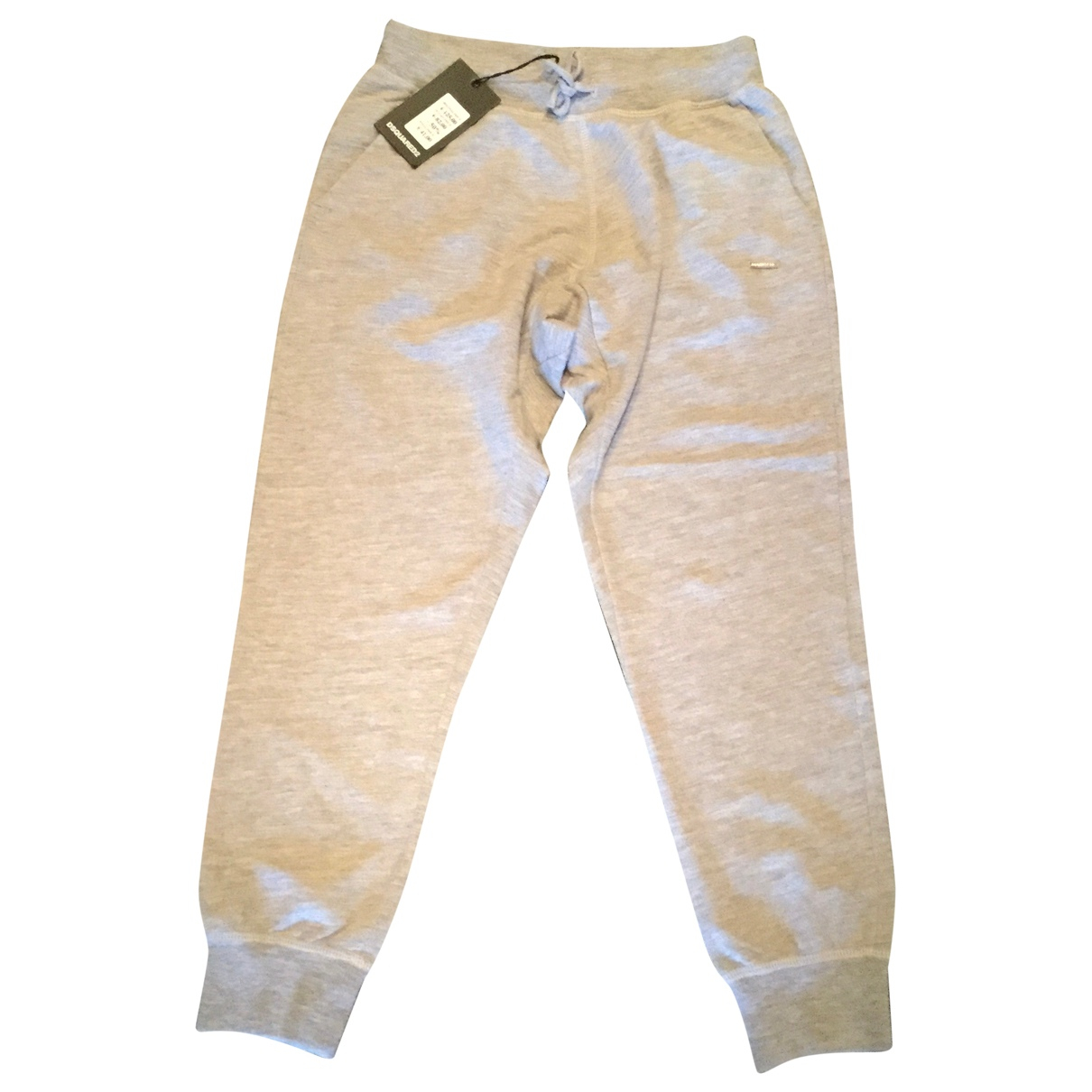 Dsquared2 \N Grey Cotton Trousers for Kids 14 years - S