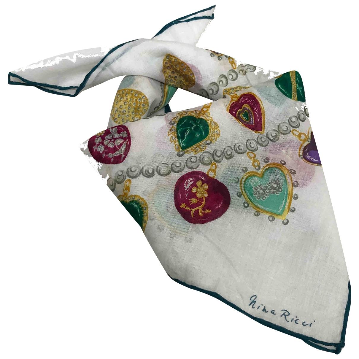 Nina Ricci \N White Cotton Silk handkerchief for Women \N