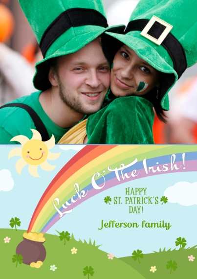 St. Patrick's Day Cards Flat Glossy Photo Paper Cards with Envelopes, 5x7, Card & Stationery -Luck O' The Irish