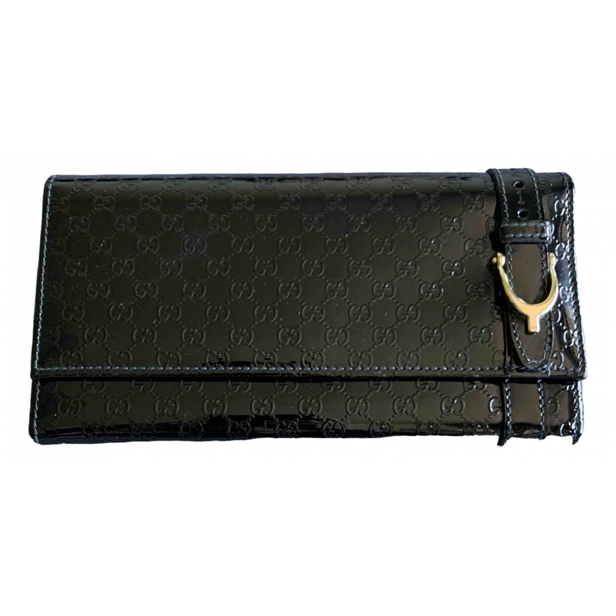 Gucci \N Black Patent leather wallet for Women \N
