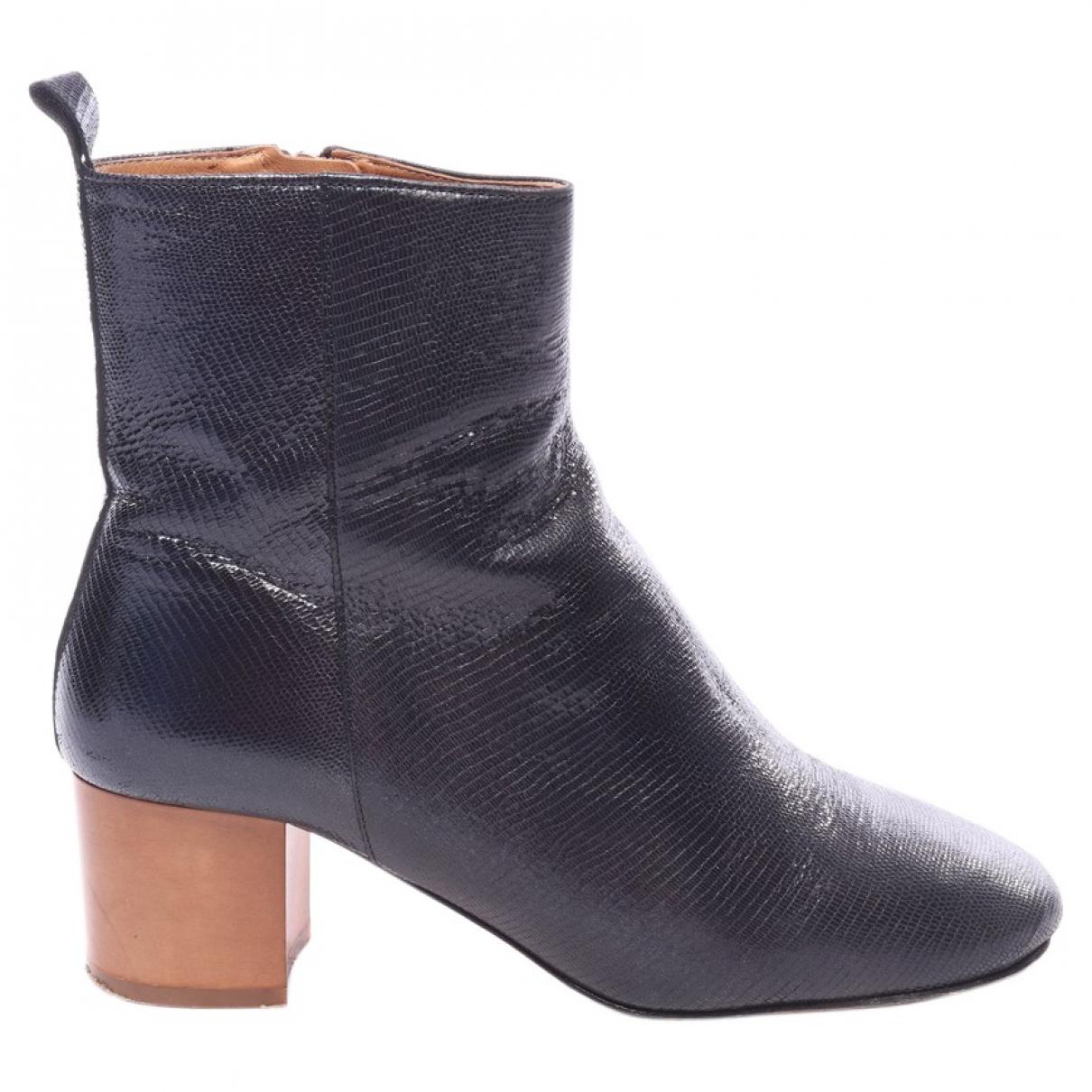 Isabel Marant Etoile - Boots   pour femme en cuir - noir