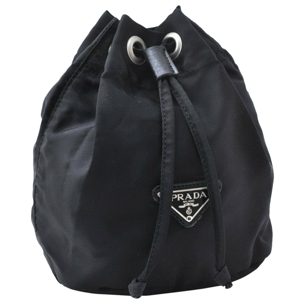 Bolsos clutch en Plastico Negro Prada