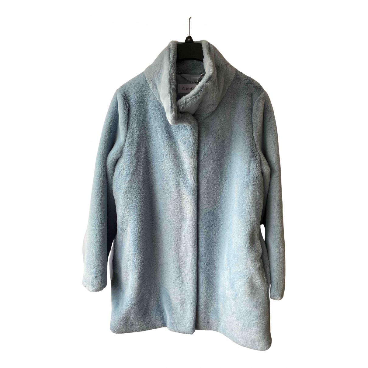 Calvin Klein - Manteau   pour femme - bleu