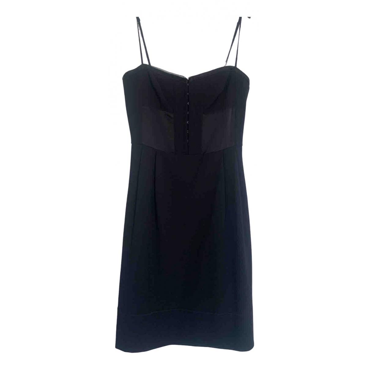 Dkny \N Kleid in  Schwarz Baumwolle - Elasthan