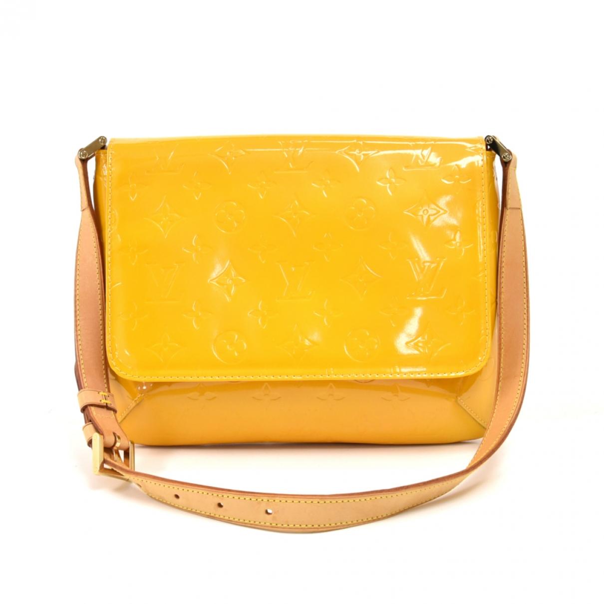 Louis Vuitton Thompson Handtasche in  Gelb Lackleder