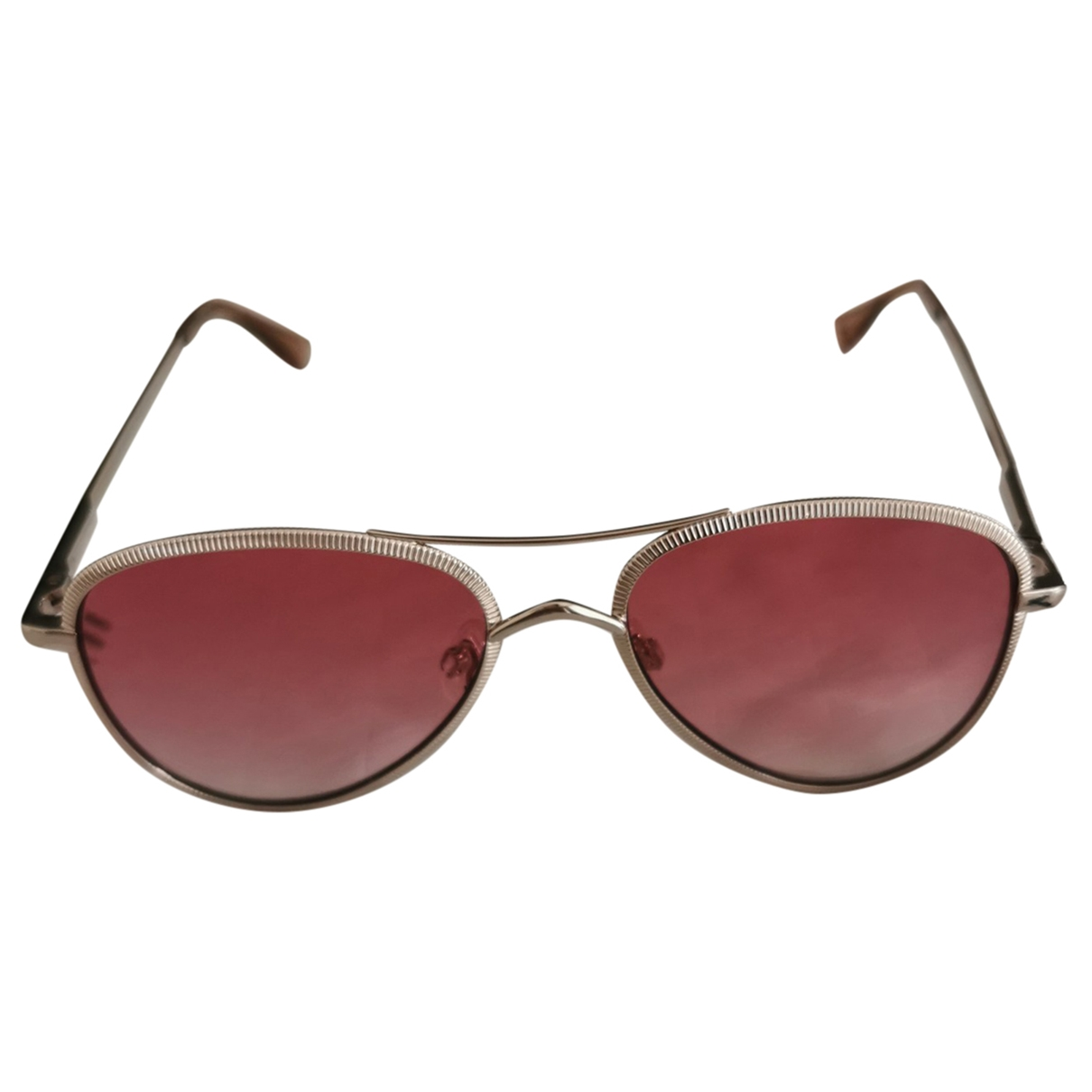 Le Specs \N Sonnenbrillen in  Rosa Metall