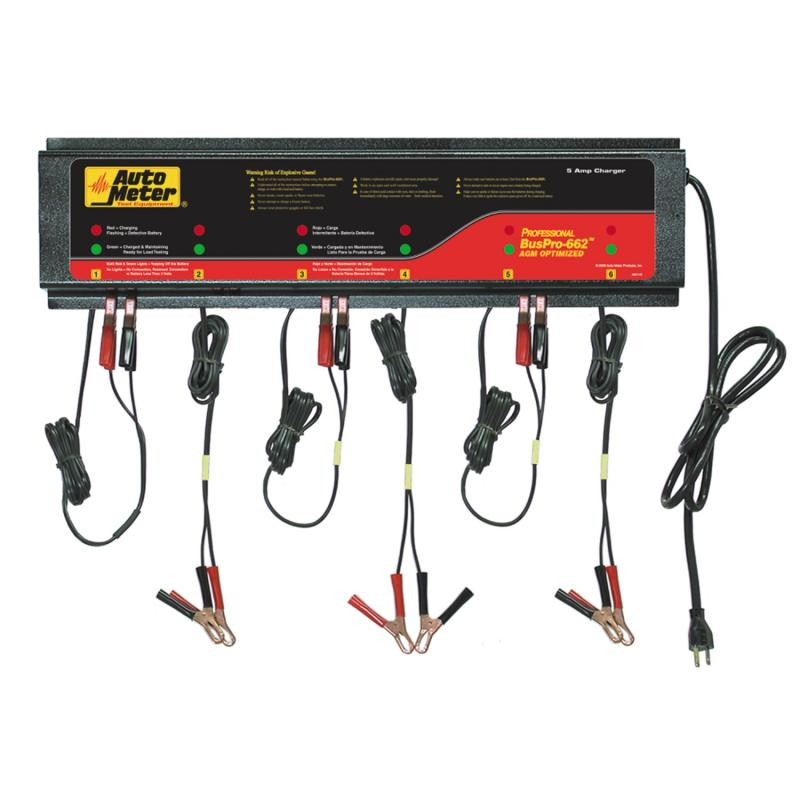 AutoMeter 6 STATION CHARGER; 5 AMP/STATION; 230V; AGM;ROHS
